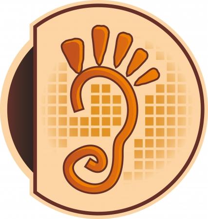 fu�sohle: logo orange F��e begehbar Unternehmen oder f�r Podologen
