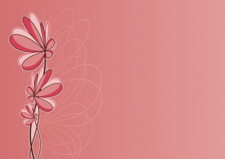 romantic floral background for valentine mother women days and easter Vector