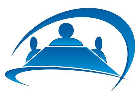 vergaderzaal met leden Vector Illustratie