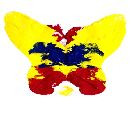 Abstract colorful butterfly on white background Stock Photo - 18020742
