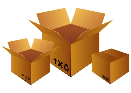 removals boxes: delivery box for logistic company Illustration