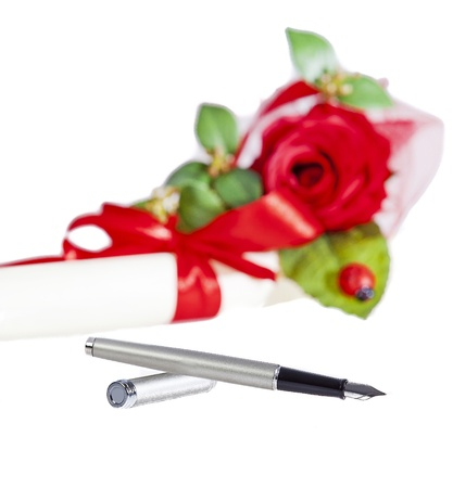 fountain pen on a background Stock Photo - 18118491
