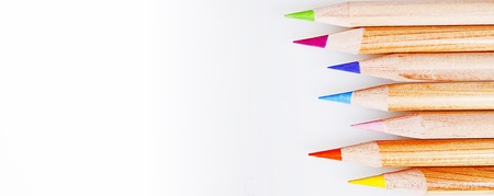 colored pencils on a withe background Stock Photo - 18197193