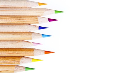 colored pencils on a withe background Stock Photo - 18197191