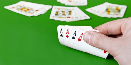 poker of aces Stock Photo - 18311146