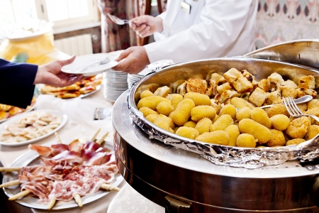 banqueting: mixed fried in a buffet