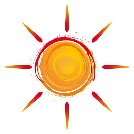 sun protection: sol de verano estalla en colores c�lidos Vectores