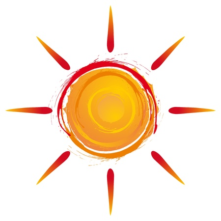 summer sun exploding in warm colors Vector