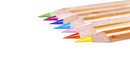 colored pencils on a withe background Stock Photo - 18345718