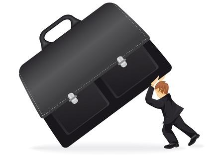 24h: businessman support a suitcase