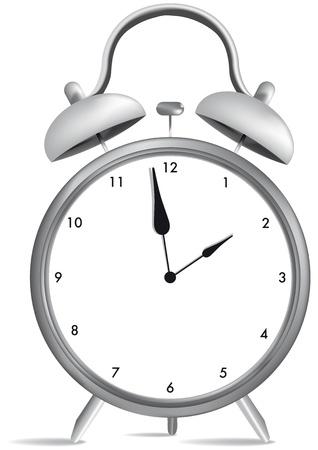 alarm clock with numbers and hands Ilustração