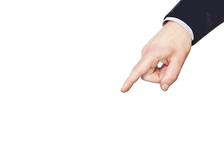 businessman pointing with his finger photo