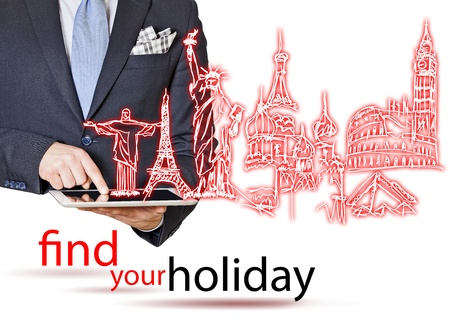 enveloping: find your holiday with glow bright Stock Photo