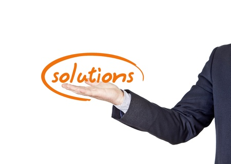 businessman who offers solutions for companies photo