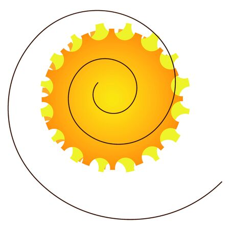 solarium: sun and holidy on a white background