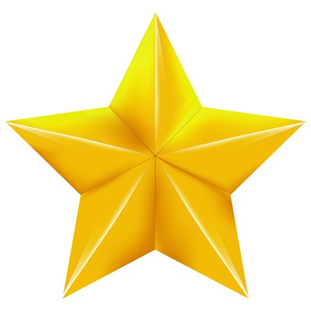 gold star on a with background  Vector