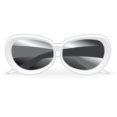 sunscreen: white sunglasses on a white background