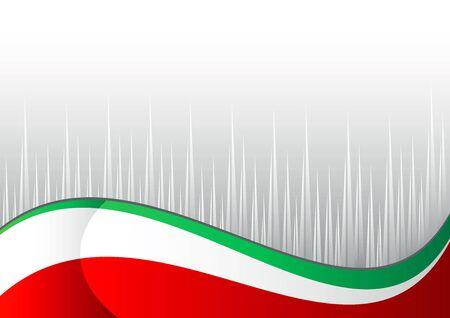 bandera de italia: bandera italiana con un punto gris en el fondo blanco Vectores