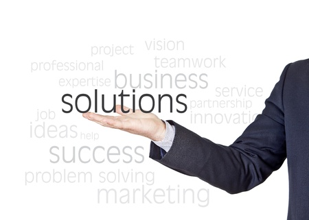 businessman who offers solutions for companies
