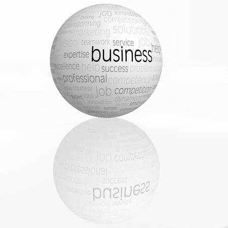 business sphere with reflection isolated  Stock Photo - 20214201