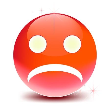 wścieklizna: wektor czerwony uśmiech na białym tle
