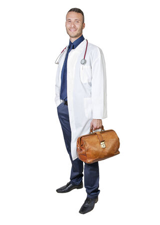 young Doctor isolated on a white background photo