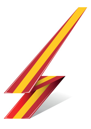 made in spain: spain arrow to flag with red and yellow color
