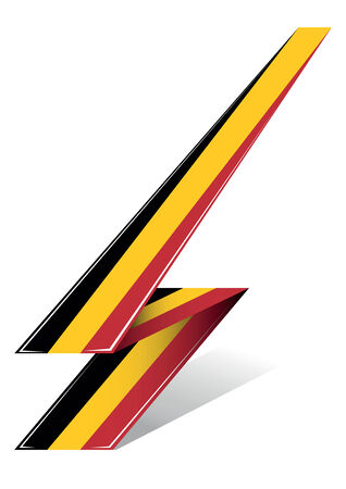 belgium arrow to flag with red black and yellow color