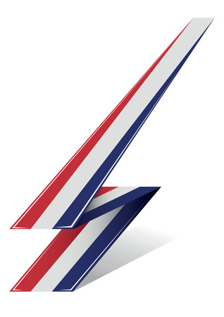 north holland: holland arrow to flag with red white and blue color Illustration