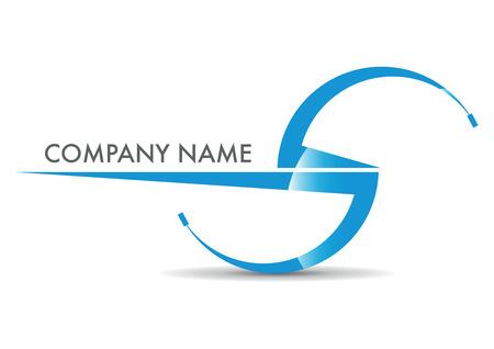 s shape: s company name with blue sky headphones