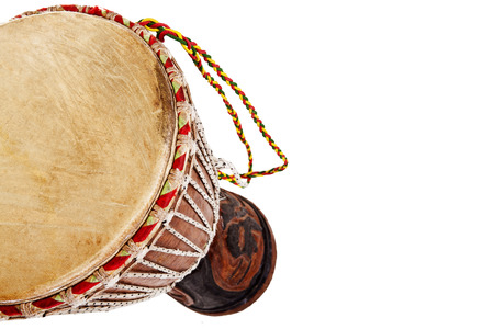 African djembe drum isolated on a white background photo