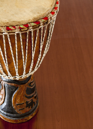 african drums: African djembe drums isolated on a white background