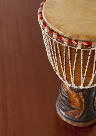 African djembe drums isolated on a white background photo