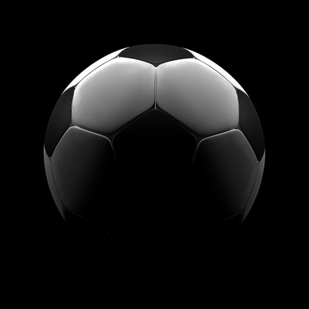 a soccer ball on a black background