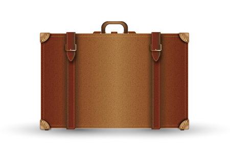 beautiful illustration of suitcase vintage in leather  Banco de Imagens