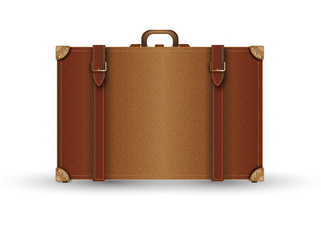 beautiful illustration of suitcase vintage in leather  Stock Photo