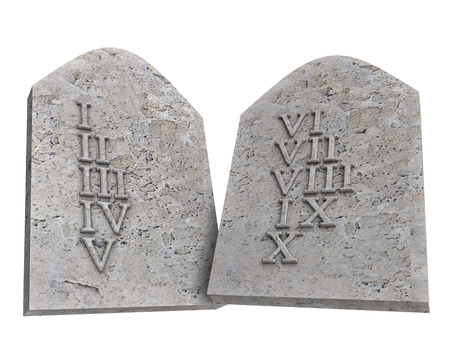 ten commandments: the ten Commandments isolated on a white background