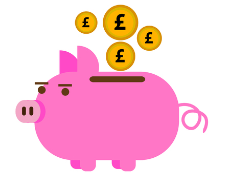 Piggy Bank in Pounds GBP