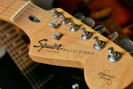 strat: Squire Bullet Strat by Fender