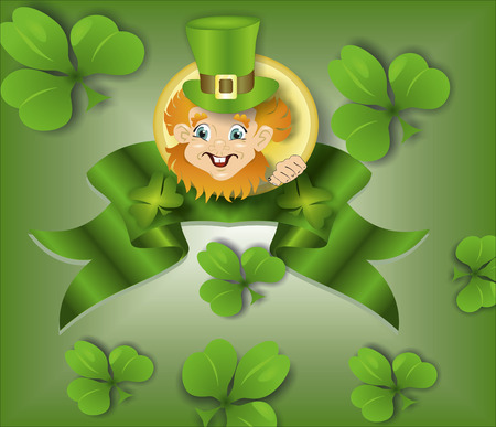 Leprechaun with a ribbon photo