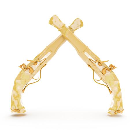 flint gun: arma de cosecha del m�rmol del siglo 19