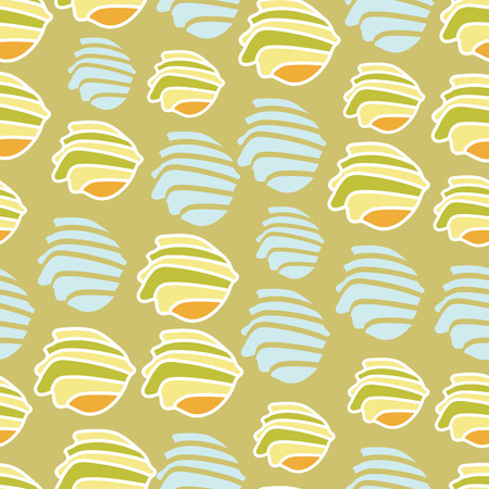 Sea Shells-Spa in the Country. Seamless Repeat pattern
