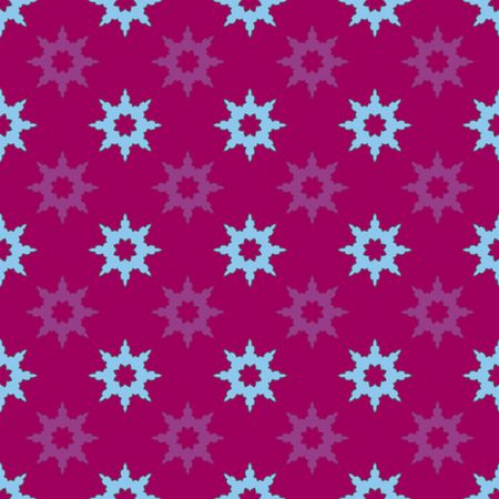 Festive Snowflakes- Garden Tea Party seamless repeat pattern. Festive snowflakes flower shapes pattern background. Surface pattern design in maroon, blue and purple. Perfect for Fabric, Scrapbook,gift wrapping paper.