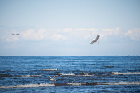 jurmala: The Baltic Sea is a mediterranean sea located between Central and Northern Europe Stock Photo