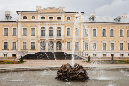 bartolomeo rastrelli: Rundale Palace. It was constructed in the 1730s to a design by Bartolomeo Rastrelli. Latvia Editorial