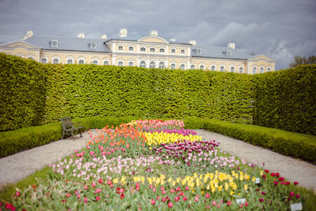 rundale: Rundale Palace. It was constructed in the 1730s to a design by Bartolomeo Rastrelli. Latvia Editorial