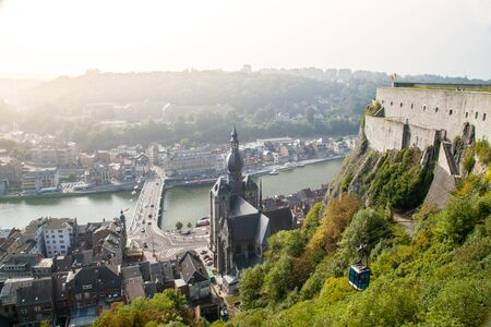 meuse: Dinant is a Walloon city and municipality located on the River Meuse in the Belgian province of Namur