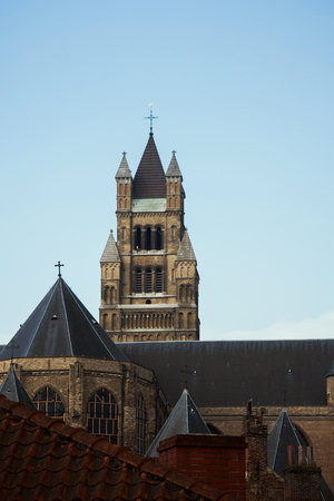 flanders: The Sint-Salvator Cathedral is the cathedral of Bruges, Flanders