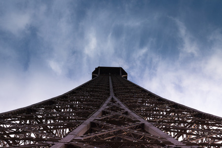 second floor: view of the top of the Eiffel Tower from the second floor