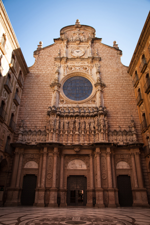 Santa Maria de Montserrat is a Benedictine abbey located on the mountain of Montserrat, in Catalonia, Spain Stock Photo